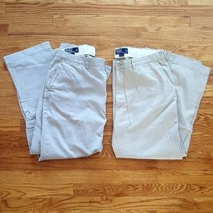 TWO-pack POLO Ralph Lauren Mens khaki chinos 36x30